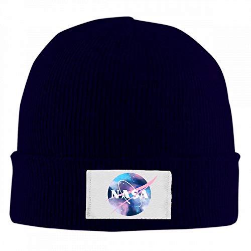 5372 US NASA Unisex Winter Warm Wool Cap Skull Hat Quality Woolen Knit Beanie Cap Navy