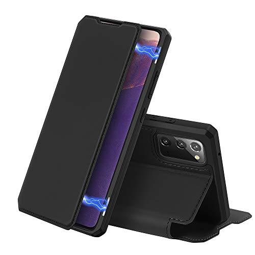 DUX DUCIS Hülle für Samsung Galaxy Note 20 / Note 20 5G, Premium Leder Magnetic Closure Flip Schutzhülle handyhülle für Samsung Galaxy Note 20 / Note 20 5G Tasche (Schwarz)
