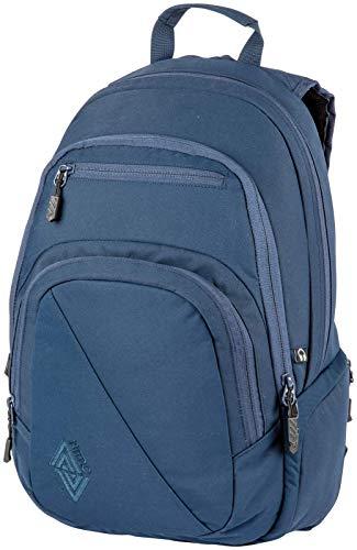 Nitro Stash Rucksack Schulrucksack Schoolbag Daypack Damenrucksack Schultasche schöne Rucksäcke Alltag Fahrradtasche, Indigo, 29L