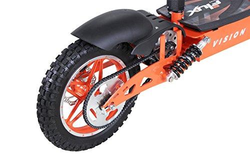 E-Scooter Roller Original E-Flux Vision mit 1000 Watt 36 V Motor Elektroroller E-Roller E-Scooter in vielen Farben (Orange) - 9