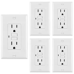 BESTTEN Self -Test GFCI Receptacle Outlet with LED Power Indicator