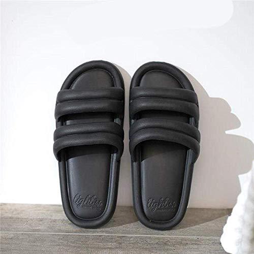 Cxcdxd FLHLF Sandalias Zapatos cómodos de Verano para la Playa, Pantuflas de baño Antideslizantes, Pantuflas de Plataforma Suave para Interiores, Zapatos de Playa para Hombres y Mujeres, Pantufla