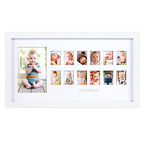 "Pearhead ""My First Year"" Photo Moments Baby Keepsake Frame,"