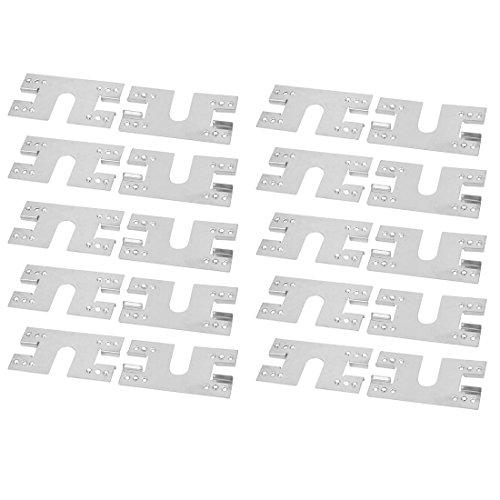 sourcing map 20pcs 8,5mm Offene Breite Edelstahl Solar PV Erdung leitfähige Blechplatte DE de