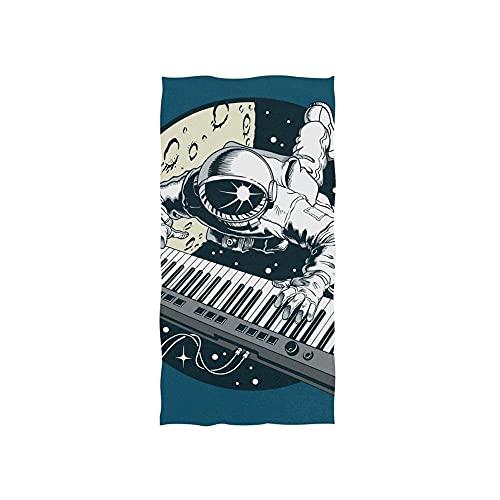 Astronaut Plays Piano Toallas Baño Impreso Toalla De Playa Uso Diario Toallas De Baño Microfibra Toalla De Piscina