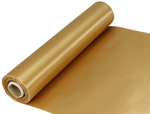 Oaktree UK Eleganza Satin Stoff, gold, 29 cm x 20 m