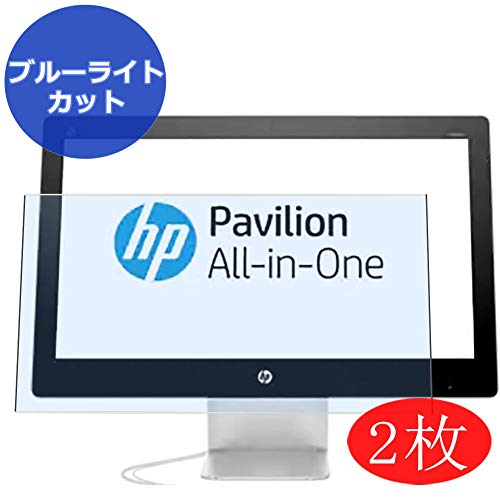 【2 Pack】 Synvy Anti Blue Light Screen Protector for HP Pavilion 23-q000 All-in-One AIO / q060jp / q010 / q014 / q055na / q017 / q019 / q001la / q006la 23' Screen Film Protectors [Not Tempered Glass]