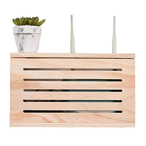 Caja de almacenamiento de enrutador inalámbrico Caja de decoración de caja eléctrica doméstica Caja de pared de pared con gato de pared de pared Caja de blindaje de alambre ( Size : 39.6*8.6*21.6CM )