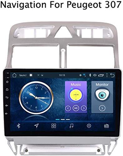 WXHHH GPS-Navigationssysteme Auto Mit Ultra-dünnen Touch-Screen-Multimedia-Player Bluetooth/Radio-Tuner/AUX/USB/Lenkradsteuerung/Spiegel Llink/Canbu, Für Peugeot 307 2004-2013