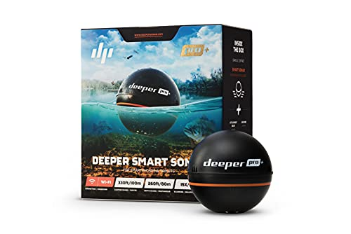 Deeper PRO+ Smart Sonar Buscador de peces WiFi portátil y lanzable con GPS para kayaks,barcos y desde la orilla Buscador de peces de carpfishing