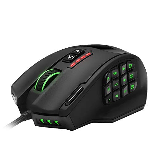 Wired Gaming Mouse, 16400 DPI High Precision Programmable Computer Gaming Mice, Ergonomic LED Backlit Mice, for Laptop, PC, Computer