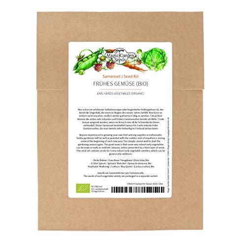 Frühes Gemüse (Bio) - Samenset mit 3 Gemüsesorten für die Aussaat zu Beginn des Jahres