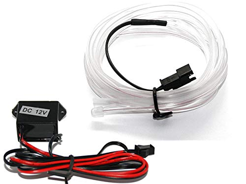 LED-Mafia EL Lichtleiste -Ambientebeleuchtung Leuchtschnur Kabel weiß - (2m (6,75€/m))