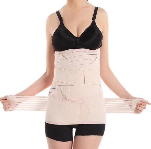 Elandy 3 in 1 Supporto elastico traspirante Postpartum recuperare/Belly-Cintura girovita/bacino più rilevante per la perdita di peso, da donna, per gravidanza