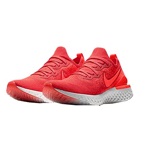 Nike Men's Epic React Flyknit 2 Running Shoe (10.5, Chile Red/Bright Crimson)