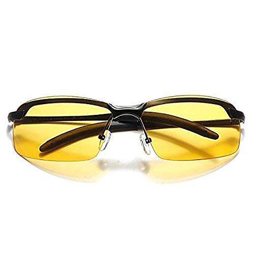 Kikier Nachtsichtbrille zum Fahren – HD Nachtfahrbrille blendfrei polarisiert Herren Damen Brille