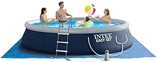 Intex 26165VM Easy Set 15-Foot x 42-inch Portable Inflatable Home Outdoor Above Ground Round Swimming Pool with Ladder, 1000 GPH Filter Pump, & Cover