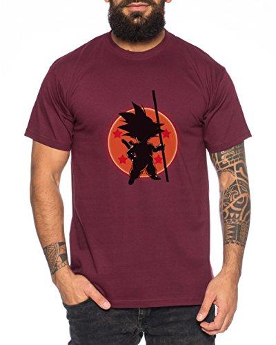 WhyKiki Son Ball Dragon Goku Camiseta de Hombre