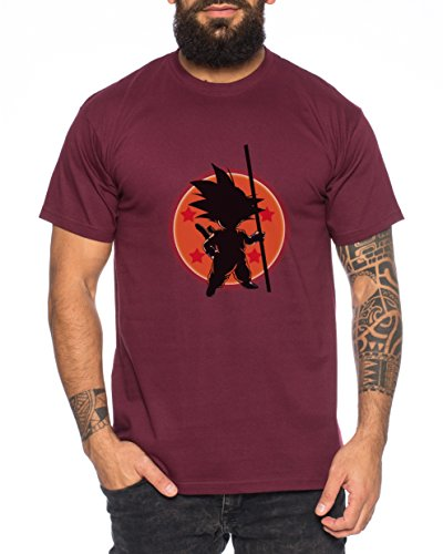 WhyKiki Son Ball Dragon Goku Camiseta de Hombre