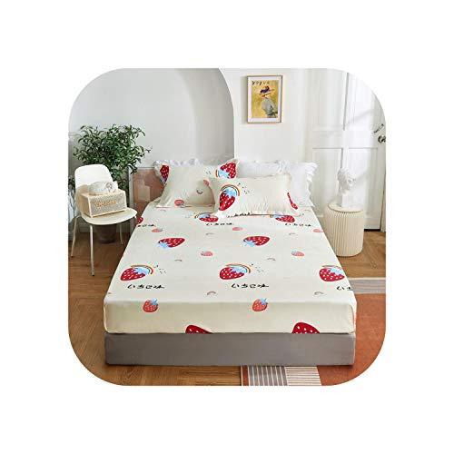 Star Harbor Bettgarnitur |2020 1 Stück Baumwolldruck Bettmatratze Set mit Vier Ecken und Gummibändern-caihongcaomeimi-160X200X25cm