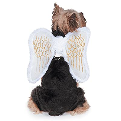 Zack & Zoey Fur-Trimmed Angel Wings Harness for Dogs