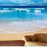 Papel Pintado Fotomural Playa de mar 3D Fotografico...