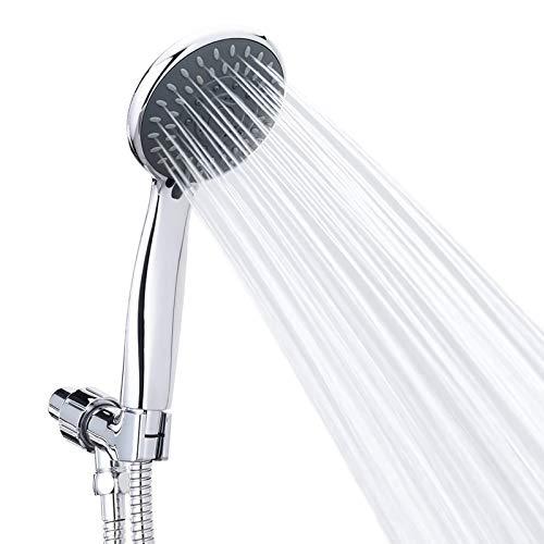 Alcachofa de ducha universal ELCM de alta presión con modos ajustables desmontables con manguera de acero inoxidable y soporte de ducha