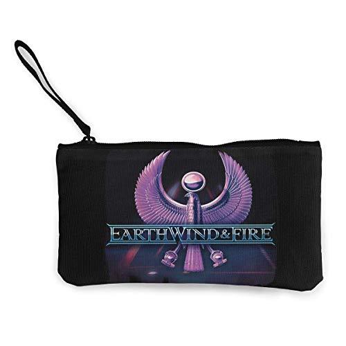 BHGYT Earth Wind & Fire Multifunktionale Leinwand Geldbörse Wechselgeldbeutel Brieftasche Kleine Schminktasche mit Reißverschluss