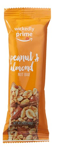 Wickedly Prime Nut Bar, Peanut & Almond, Gluten Free, Kosher, 1.4 Ounce, 5 Count