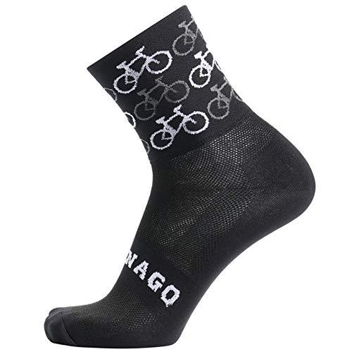 Calcetines de ciclismo Calcetines de ciclismo Cómodo carretera Calcetines de bicicletas de montaña Calcetines de carreras de calcetines Calcetines deportivos ( Color : Black and grey , Size : 38 45 )
