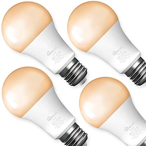 Smart Light Bulbs 4 Pack, Treatlife Tunable White Dimmable Smart Bulb 800 Lumen, Smart Home Devices That Works with Alexa and Google Assistant, LED Light Bulbs A19 E26 9W (60W Equivalent)