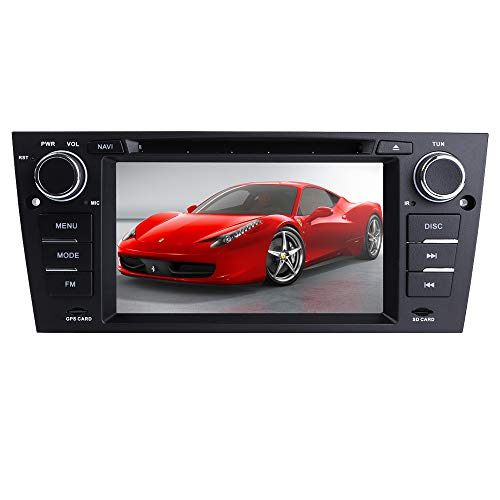 hizpo 7 Inch 1 Din Android Navigation for BMW 3 Series E90/E91/E92/E93(2006-2012) Car Stereo Supports Bluetooth DVR Radio Mirror-Link Radio GPS DSP Navigation 4G+64G DVD Player