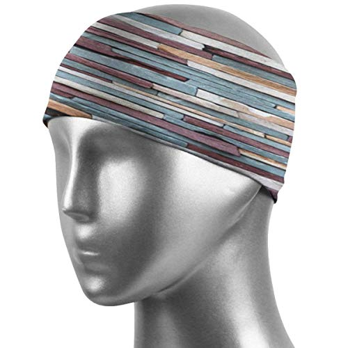 Meloci Sport Stirnbänder farbige Steinoberfläche Retro Backstein Stirnbänder hochsaugfähige Schweißbänder rutschfestes Bandana Stirnband