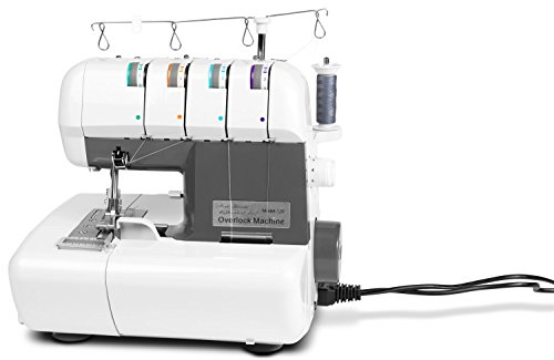MEDION MD 16600 Overlock Nähmaschine (90 Watt Leistung, Nähleistung von...