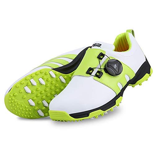 Zapato De Golf Impermeable para Niños, para Deportes Al Aire Libre, para Correr, Transpirables, Suaves, Zapatos De Golf para Niños,Verde,34
