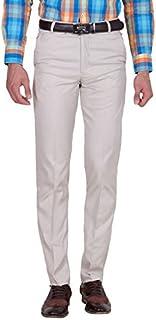American-Elm Men's Cotton Blend Formal Trouser