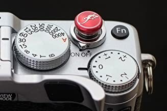Lensmate Lizard Soft Release Button - Red - fits Any Standard Threaded Release - Fujifilm X-T3, X-E3, X-E2s, X-E2, X-T2, X-Pro2, X-T20 & X-T10, X100F & X100T & X100s
