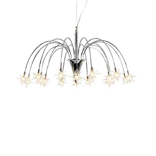 DKee Lámpallas Cristal Creativo Moderno 12 Lámpara Tamaño 60 Cm * 35 Cm Lámpara Iluminación Dormitorio Restaurante Estudio Corredor Porche Plata