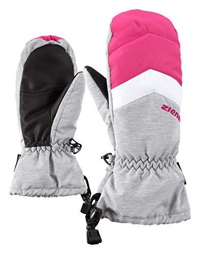 Ziener Kinder LETTERO AS MITTEN glove junior Ski-handschuhe / Wintersport | wasserdicht, atmungsaktiv, grau (light melange), 6.5