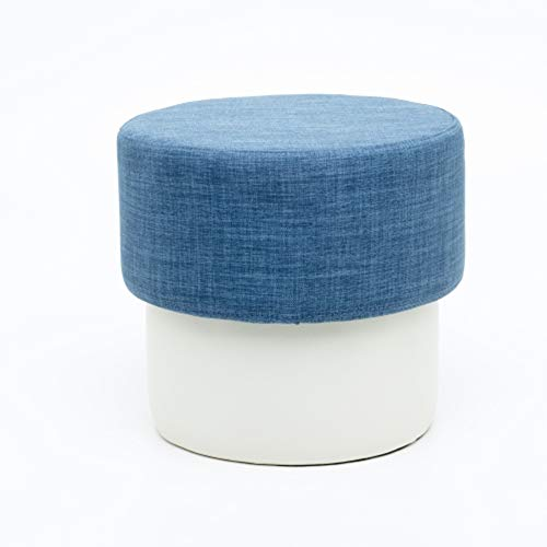 Guidecraft Mushroom Stool - Blue, Chair with Fabric Cushion, Children's Seat and Foot Stool, Kid's Classroom Furniture