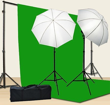 Chromakey Green Screen Kit 800w Photo Video Lighting Kit 10x12 feet...