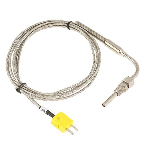 Temperatursensor K-Typ, EGT-K-Thermoelement K-Typ Sensor-Sonde für Abgastemperatursonde mit freiliegender Spitze und Anschluss, 1/8 Zoll NPT