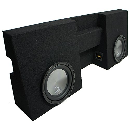 "Compatible with 2005-2015 Toyota Tacoma Double Cab Truck Harmony A102 Dual 10"" Sub Box Enclosure"
