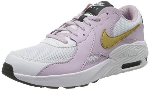 Nike Air Max EXCEE (GS), Scarpe da Corsa, White/Mtlc Gold/Iced Lilac/off Noir, 38 EU