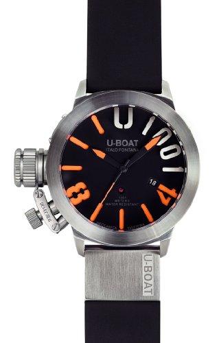 U-Boat 6449 - Orologio da polso Uomo, caucciú, colore: Nero