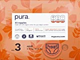 Pura Premium Eco Baby Pannolini taglia 3 (Midi 7-13 kg), 6 confezioni da 33 pannolini (198 pannolini), fibre vegetali naturali certificate FSC, puri, ecologiche