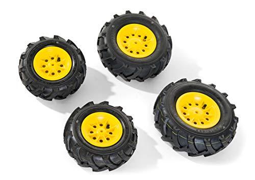 Rolly Toys rollyTrac Air Tyres (gelbe Felgen, Größe: 2x 260x95 + 2x 325x110, einfache Montage) 409860