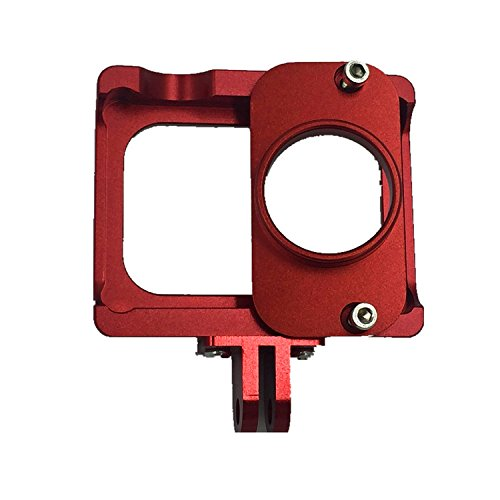 jeerui Marco de aluminio para cámara Xiaomi Yi Color Rojo