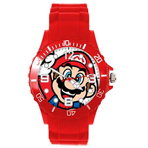 Reloj Cuarzo Rojo Silicona Redondo Bigote Fontanero E3