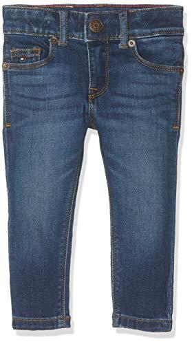 Tommy Hilfiger Baby-Mädchen Nora RR Skinny MMST Jeans, Blau (Main Mid Stretch 911), (Herstellergröße:86)